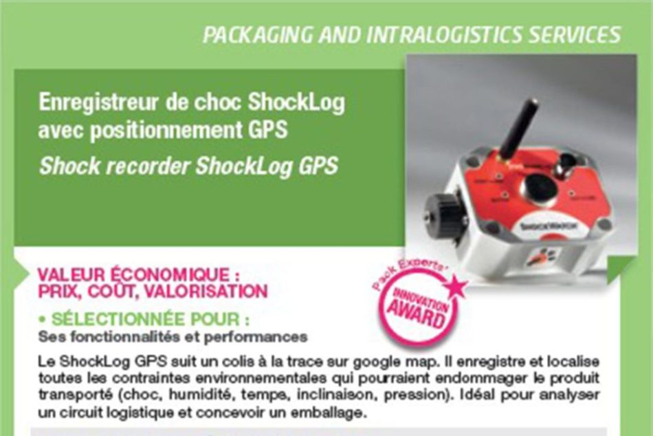 Enregistreur de chocs ShockLog GPS lauréat du « Pack Experts Innovation »