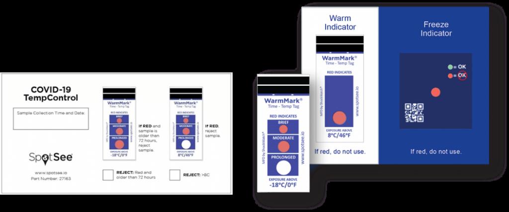 Carte indicatrice de température à usage unique pour le contrôle de la chaîne du froid
