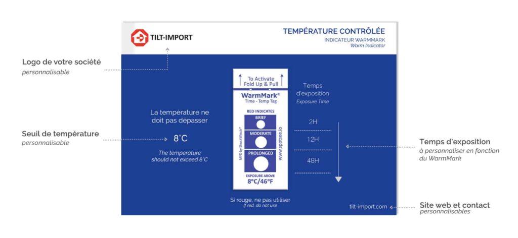 image de la carte d'accompagnement de l'indicateur de température warmmark personnalisée