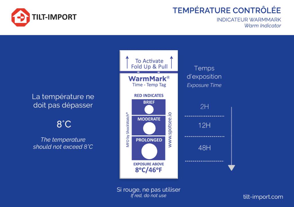 image de la carte de indicateur de température warmmark personnalisée