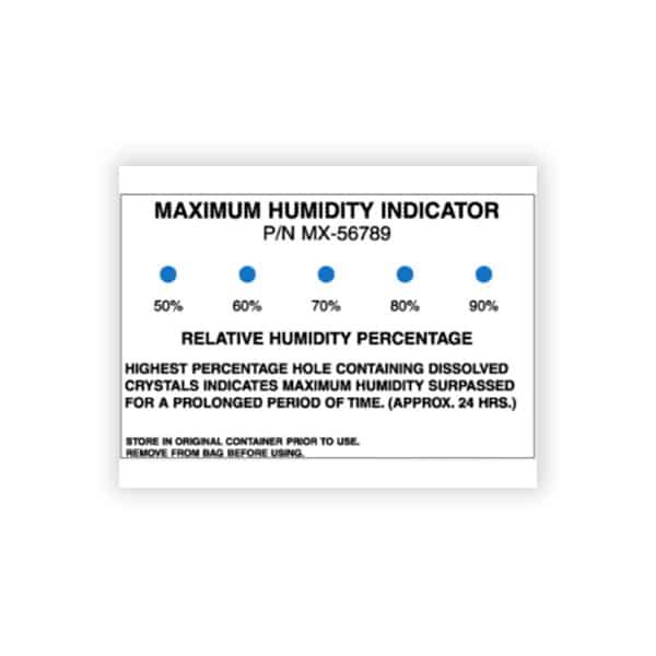 image de la carte indicatrice humidité irréversible