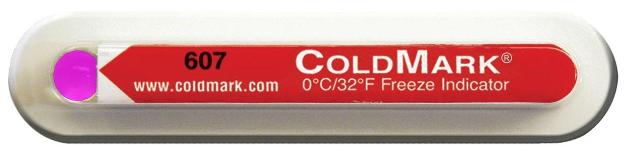 indicateur de gel Coldmark déclenché