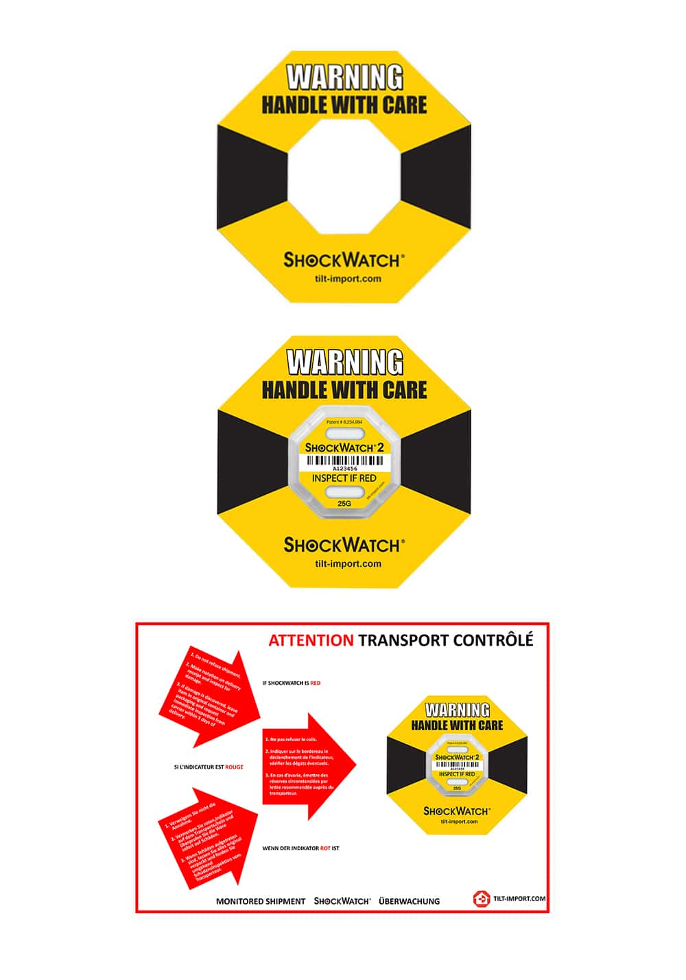 image du ring label de l'indicateur de choc shockwatch 2