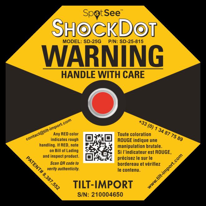 image de l'indicateur de choc shockdot déclenché