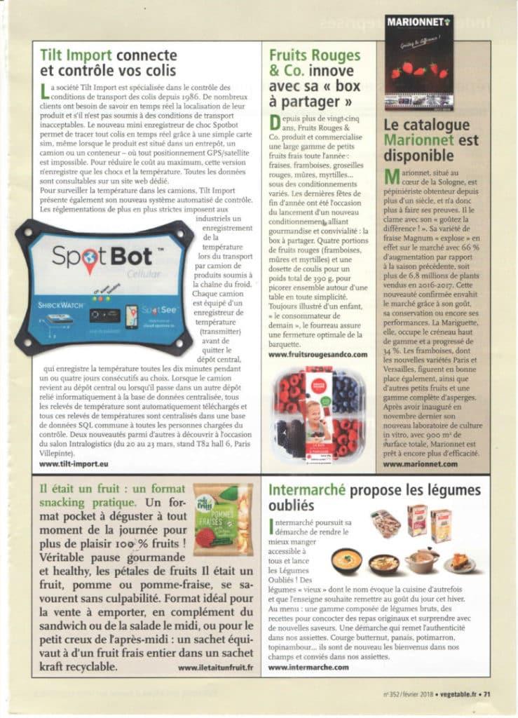 image de l'article de presse sur le SpotBot Cellular