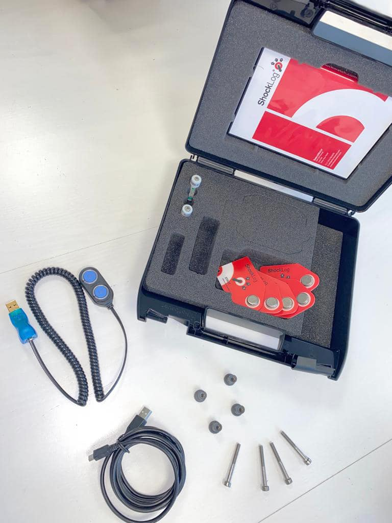 image du starter kit de l'enregistreur de choc électronique shocklog