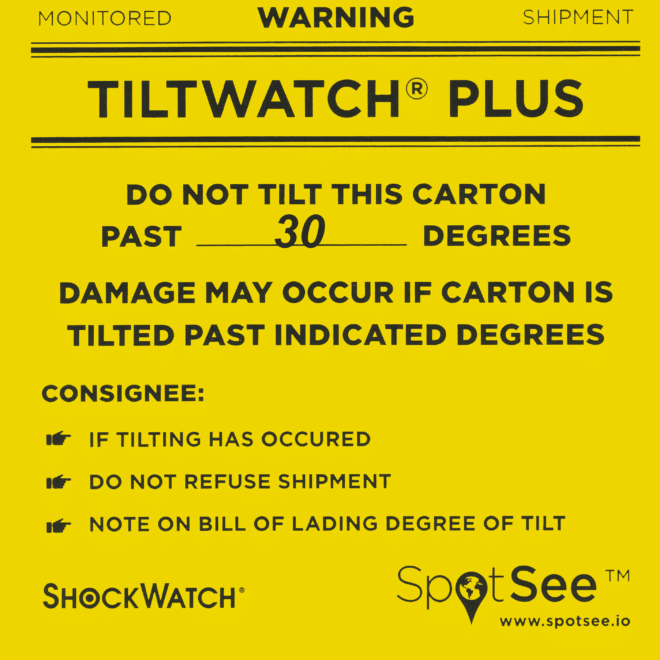 Indicateur de renversement TiltWatch Plus