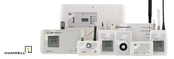 image de l'enregistreur de température Radio Hanwell Pro et ses accessoires