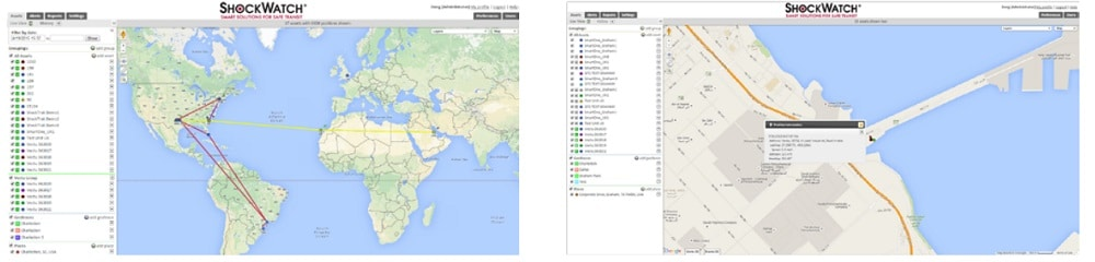 Carte enregistreur de choc Shocklog Satellite