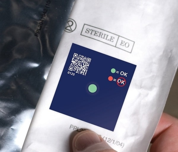 image de l'indicateur de température freeze FCP sur produit pharmaceutique