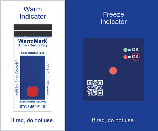 Indicateur de température Suivi Chaîne du froid ColdChain