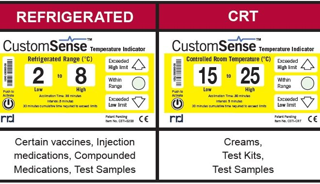 Modèle indicateur de température CustomSense