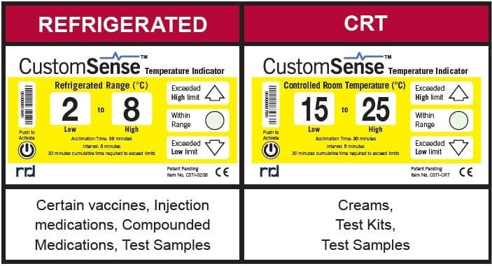 image d'un modèle d'indicateur de température électronique CustomSense